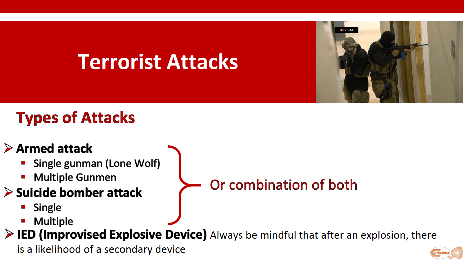Types of terrorist attacks, what are they?