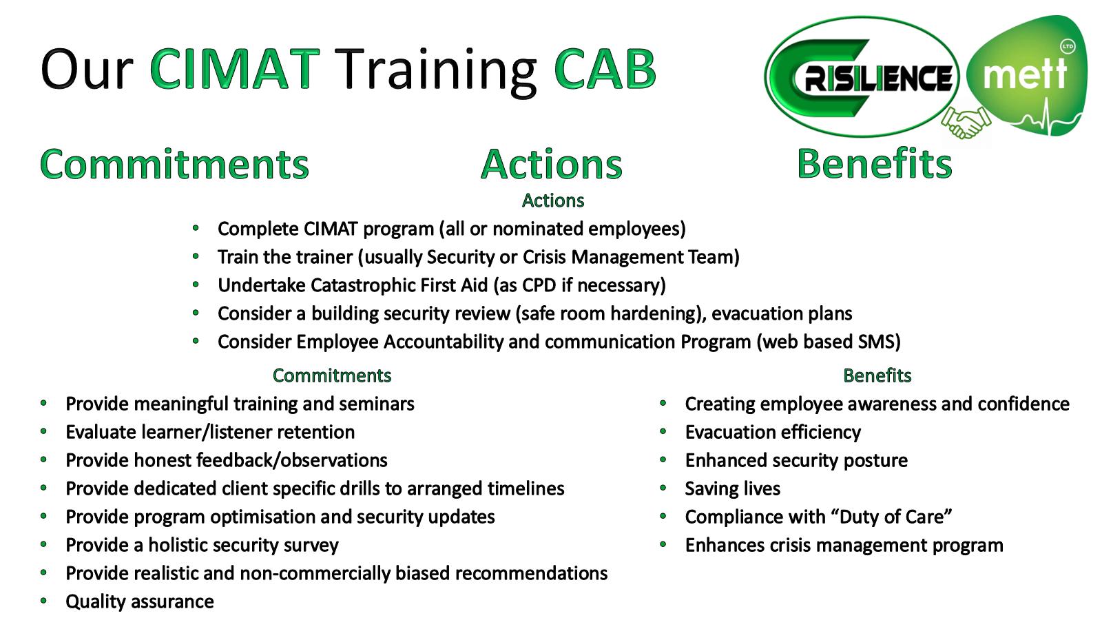 CIMAT slide 18 CAB - Commitment-Actions-Benefits