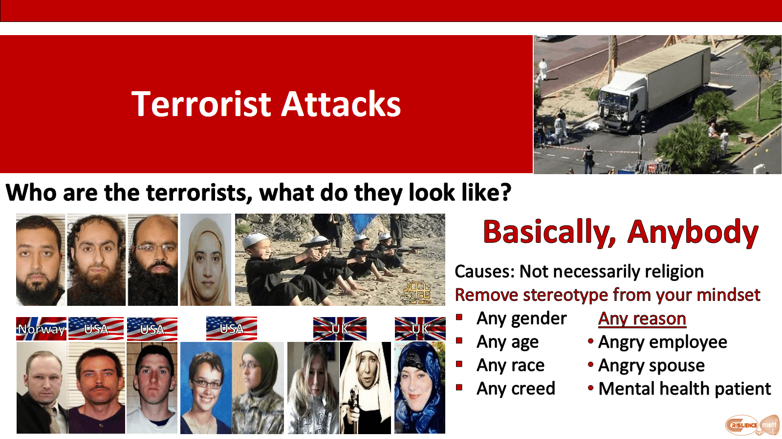 Who are the terrorists, what do they look like?